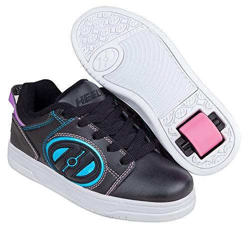 Heelys Voyager (HE100604) dames vrijetijds- en sportschoenen, meerkleurig (zwart/roze/rainbow foil), medium