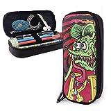 Bolsa de almacenamiento de gran capacidad para ratas Fink Pen Holder bolsa de cuero cosmético bolsa de almacenamiento para escuela oficina adolescente niño niñas