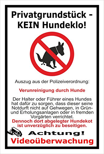 Melis Folienwerkstatt Aufkleber - Privat - Kein Hundeklo - 30x20cm – 20 VAR S00187-032-A