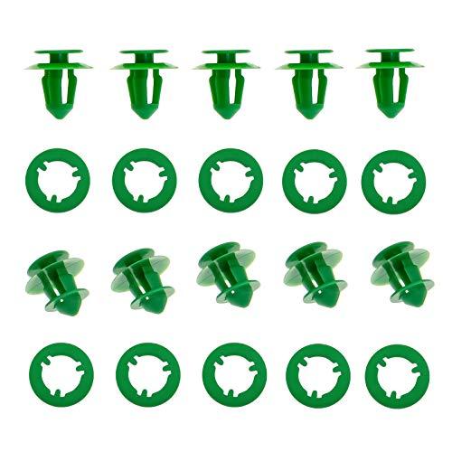 A0009912771 Befestigungsclips für Innentüren, Kunststoff, kompatibel mit Sprinter Vito Viano W639 0009912771, Grün, 50 Stück