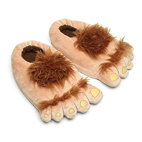 Luxugen - Zapatillas de invierno para adultos, diseño de pies de monstruo