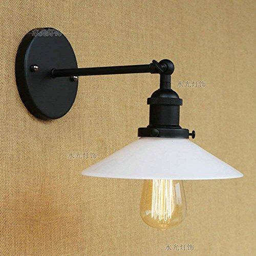 Duanjianyun Europäisches Restaurant Nachttisch Wandlampe Amerikanisches Land Retro Single Wandlampe Strahler Mechanische Arm Glasabdeckung Eisen Wandlampe B