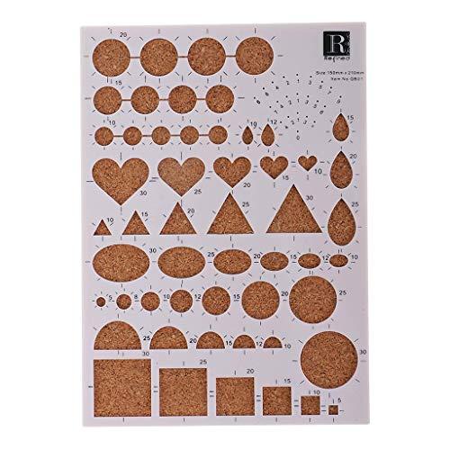 DIY Papier Quilling Sjabloon Board Papercraft voor Scrapbook Handcraft Fotoalbum Bruiloft Uitnodigingskaart Maken 210x150x8mm?1 Stuk