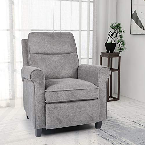 Push Back Recliner Chair Single Reclining Sofa Fabric Sofa Chair with...