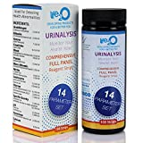 Comprehensive 14-in-1 Urine Test Strips 100ct | Urinalysis Dip-Stick Testing Kit | Ketone, pH, Blood, UTI, Protein | Keto Alkaline Diet, Ketosis, Kidney Infection & Liver Function | Free e-Book Inside