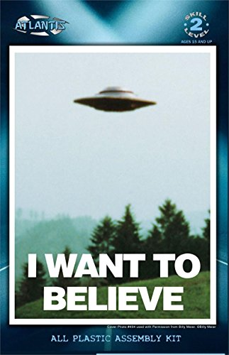 I Want to Believe 5 inch Lighted UFO Atlantis Model Kits