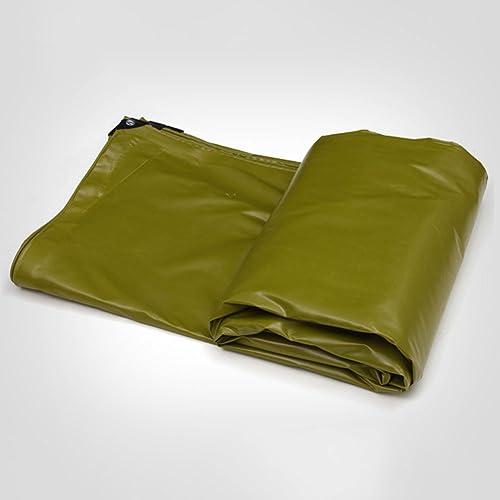 GLJ Tissu De Pluie épaisse Bache De Pluie Tissu Trois Anti-Drap Bache Toile Couverture Bache gris Tissu Ombre bache (Couleur   Armée Verte, Taille   6x5m)