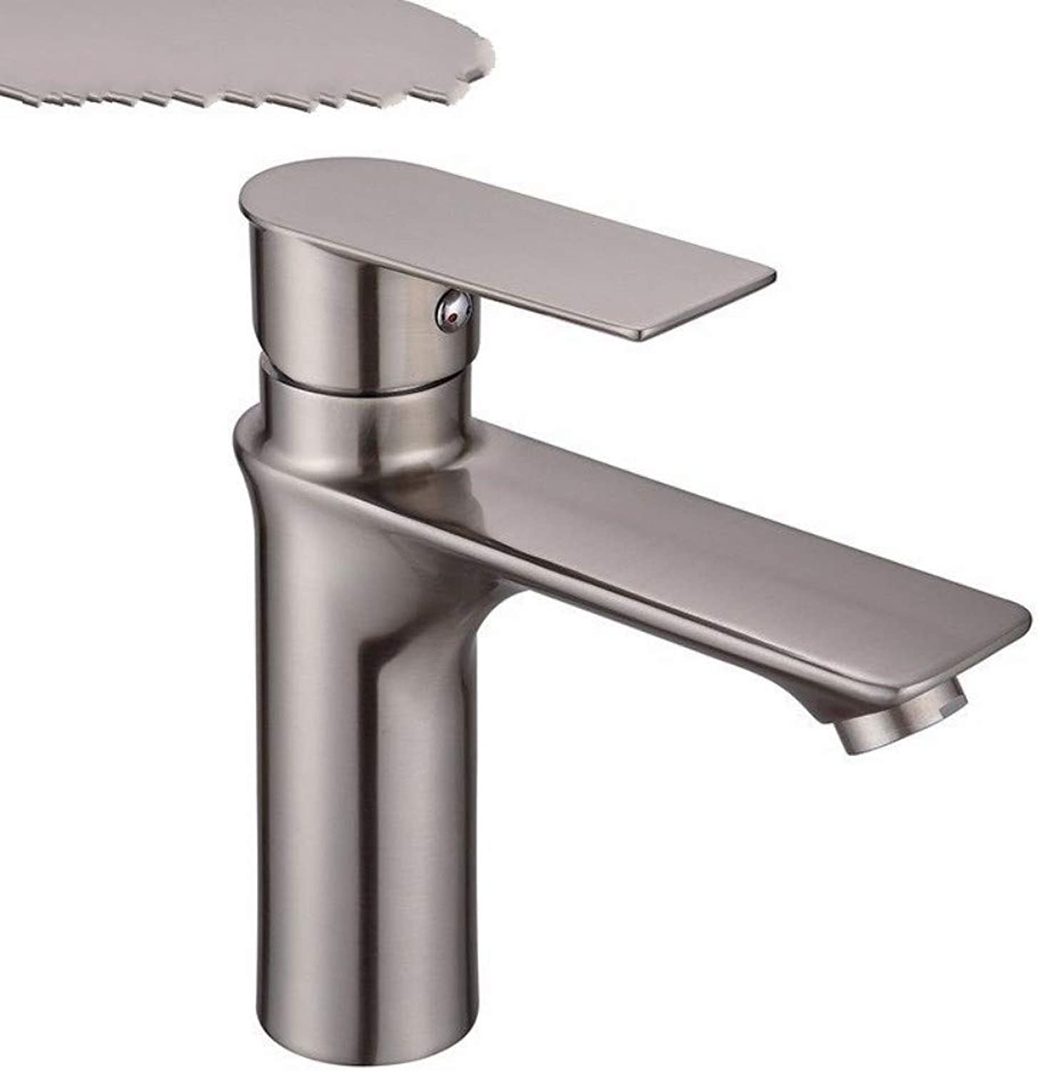 YUJING Mixer Tap Bathroom Sink Faucet Contemporary Style Bath Mixer Hot And Cold Water Wire Drawing Bathroom Taps