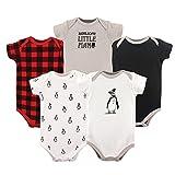 Hudson Baby Unisex Baby Cotton Bodysuits, Penguin, 9-12 Months