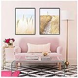 DTSGFBH Cuadro 50x70cm x 2 Piezas sin Marco Pastel Playa Paisaje Lienzo póster impresión Imagen Pared Arte Pinturas decoración para Sala de Estar