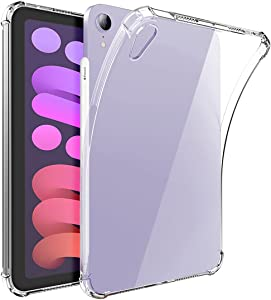 Neepanda Clear Case for iPad Mini 6 (8.3 inch, 2021) with Pencil Holder, Supports 2nd Gen Apple Pencil Charging, Ultra Slim, Lightweight, Soft TPU Back Cover Skin for iPad Mini 6th Generation