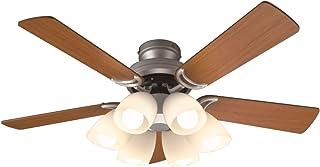 オーデリック LEDシーリングファン(LED電球一般形8.6W×6・光色切替調光) 5枚羽根(リバーシブル) リモコン付き SH9073LDR W