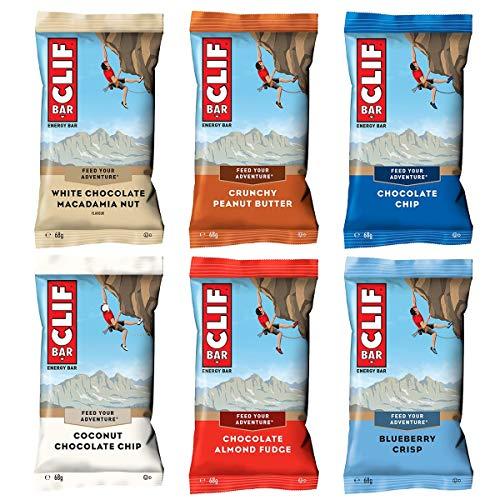 Clif Bar Variety Pack (6 x 68 g) | la popolare barretta energetica dagli Stati Uniti | Mixbox per testare con 6 gusti.
