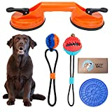 Double Suction Cup Dog Toy – Durable Treat Dispensing...