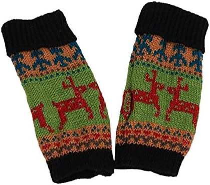 Fashion Knitted Arm Fingerless Winter Gloves Unisex Soft Warm Mitten Hand Gloves guantes eldiven handschoenen 40FE18 - (Color: A, Gloves Size: One Size)