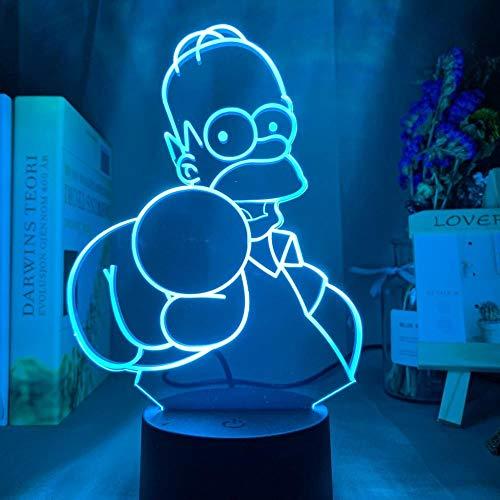 Lámpara de ilusión 3D para niños Simpson único regalo de cumpleaños de niños para dormitorio infantil SDSDUK