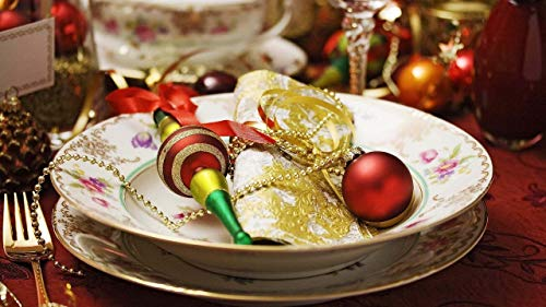 GAGALAM Adultos Rompecabezas 1500 Piezas Bolas De Navidad En Placa DIY Decoración Creativa para El Hogar 34.3x22.4in(87x57cm)
