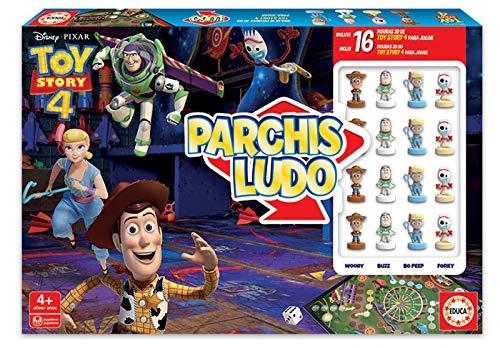 Educa - Parchís Ludo Toy Story con Figuras 3D de los Personajes, a Partir de 4 años (18514)