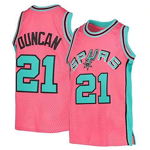 YDJY Duncan al aire libre baloncesto Jersey Spur secado rápido camisetas #21 Rosa ropa deportiva