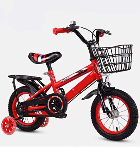 COUYY Blinkende Räder mit Rücksitz-Fahrrädern, Kinderwagen, männlichen und weiblichen Babyfahrrädern,...