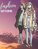 Fashion Designer Sketchbook: 216 Large Female Figure Templates, Croqui, Sketches, Models, Figurines for Designing, Illustrating, Building Portfolio. ... Detailed Notes, Log Book. (Draw & Color)