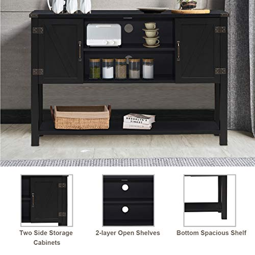 Tangkula-Console-Table-Buffet-Table-Modern-Sideboard-with-Storage-Cabinets-and-Bottom-Shelf-Contemporary-Tall-Buffet-Storage-Cabinet-Kitchen-Dining-Room-Furniture