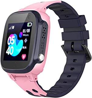 Kids GPS Tracker Smart Watch - Hamkaw IP67 Waterproof Kids Smart Phone Watch with GPS/LBS Tracker SOS Camera Games Function Digital Touch Screen Kid Watches for Boys and Girls