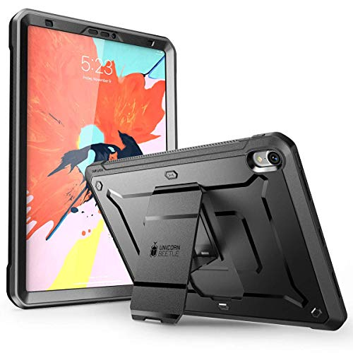 SUPCASE Hülle für iPad Pro 11 Zoll 2018 Case 360 Grad Schutzhülle Cover [Unicorn Beetle PRO] mit eingebautem Displayschutz und Ständer, Nicht kompatibel mit Apple Pencil (Schwarz)
