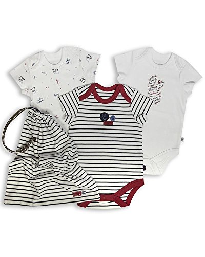 The Essential One - Paquete de 3 Body Bodies para bebé unisex ESS104