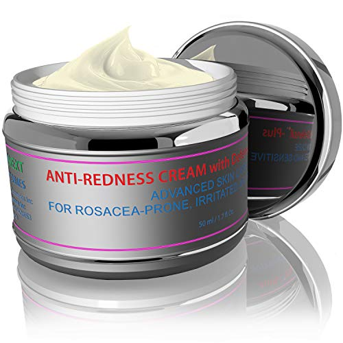 Redness Relief Face Eczema Cream - All-Natural Anti Itch Cream - Fast-acting Rosacea Treatment for Face - Facial Moisturizer and Eczema Treatment Body Cream - Hormone-Free Rosacea Skin Care Products