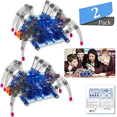 2 Set DIY Robotic Spider Scientific Robot Spider Toys for Boys and Girls Education