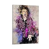 Mick Jagger 1 póster de arte de pared y póster de pared moderno para decoración de dormitorio familiar, 50 x 75 cm