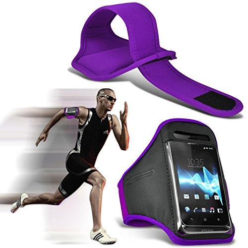 I-Sonite (morado oscuro) ajustable a prueba de sudor/agua deportes fitness Running Ciclismo gimnasio brazalete teléfono caso para LG X pantalla [XL ]
