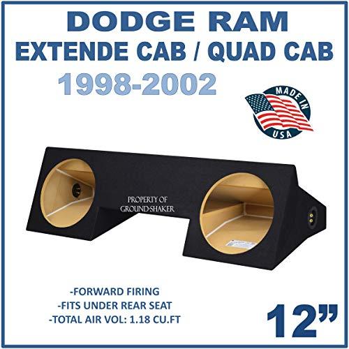 "Fits Dodge Ram Extended-Cab & Quad-Cab 1998-2001 12"" Dual Sealed Subwoofer Enclosure"