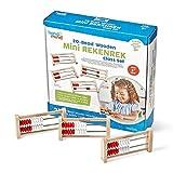 hand2mind Mini 20-Bead Wooden Rekenrek Abacus, Abacus for Kids Math, Wooden Counting Math Manipulatives, Bead Counters for Kids Math, Learn Counting and Numbers, Homeschool Supplies (Set of 25)