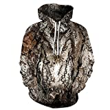 WXDSNH Hoodies Animal Owl Design 3D All Over Printed Mens Hooded Sweatshirt Unisex Pullover Chaqueta Casual Pocket Sports