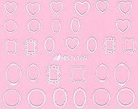 ネイルシール ハート スター 星 ポップ 選べる36種類 (ホワイトMW, 28)