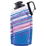 Platypus DuoLock SoftBottle Collapsible Water Bottle, Blue Skyline, 0.75-Liter