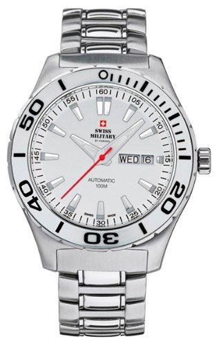 Swiss military Reloj para Hombre Analógico de Automático con Brazalete de Acero Inoxidable 20090ST-2M