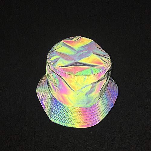 Yunbai Fischer-Hut Cotton Hat Outdoor Sport CapEuropean und amerikanischen Hip-Hop-Personality Sieben-Farben-Reflective Fischer Hüte for Männer Frauen Bunten Licht Caps Explosion Modelle Herbst-Winter