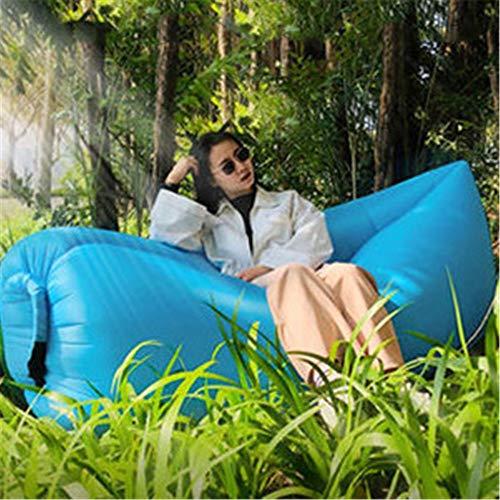 Ufblasbares Sofa Im Freien aufblasbaren Sofa-Bett-Haushalt-bewegliche aufblasbare Sofa Bag Air Cushion Aufblasbares Sofa für zu Hause (Farbe : Blau, Size : 185x80x55cm)