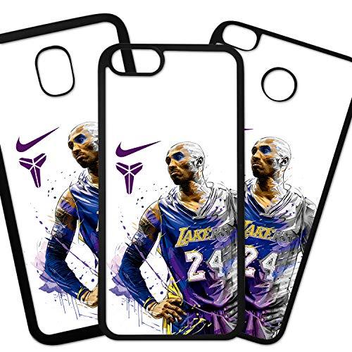 Tuscaprichosonline Fundas De Moviles Carcasas De Moviles Funda Carcasa Compatible con Marca Deportiva Nike Kobe Bryan BLAC Mamba Lakers NBA