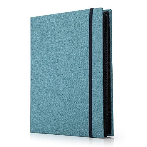 AIOR Album Photo 200 Pochettes 10x15 cm Photos, Traditionnel Famille Mariage Classique Couverture Lin, 50 Feuilles / 100 Pages, Bleu