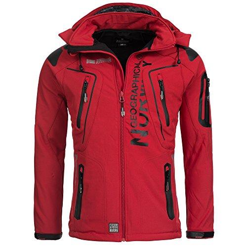 Geographical Norway TANGATA Herren Softshell Jacke Softshelljacke S-XXL, Größe:M;Farbe:Rot