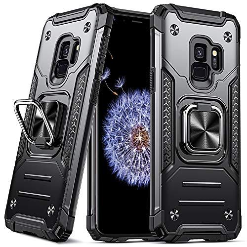DASFOND Diseñado para Funda Samsung Galaxy S9 -Negro