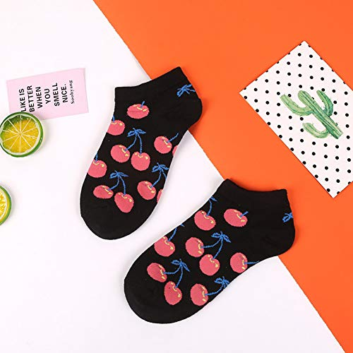 WLQXDD Calcetines especiales de regalo Primavera Verano Arte Fruta Fresca Barco Calcetines...
