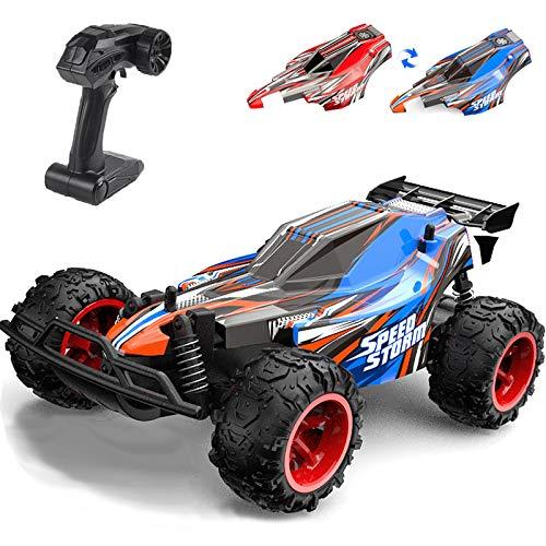 YIMAN Ferngesteuertes Auto 20KM/H Hohe Geschwindigkeit mit Zwei Schalen 800mAh Batterie 1:22 2,4GHz Elektro Off-Road Alles Gelände Buggy für Kinder