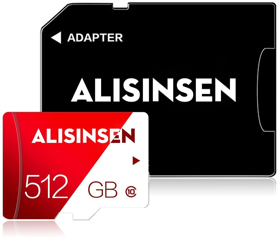 Micro SD Card 512GB Class 10 SD Memory Card 512GB TF Card High Speed Full HD Video with a SD Card Adapter for PC/Smart-Phone/Bluetooth Speaker/Tablet/Camera