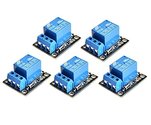 pequeño y compacto ICQUANZX 5PCS KY-019 5V Arduino Relay PICAVR DSP Arm Channel Shield Relay Módulo