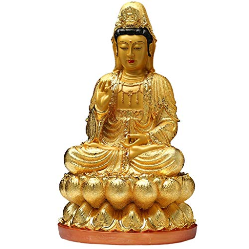 LJXLXY Feng Shui Dekoration Resin Statue von Buddha Guanyin Jingping Guanyin Tempel for Guanyin je gewesen Sicherheit und Frieden Kleinplastik Home Tisch Büro Feng Shui